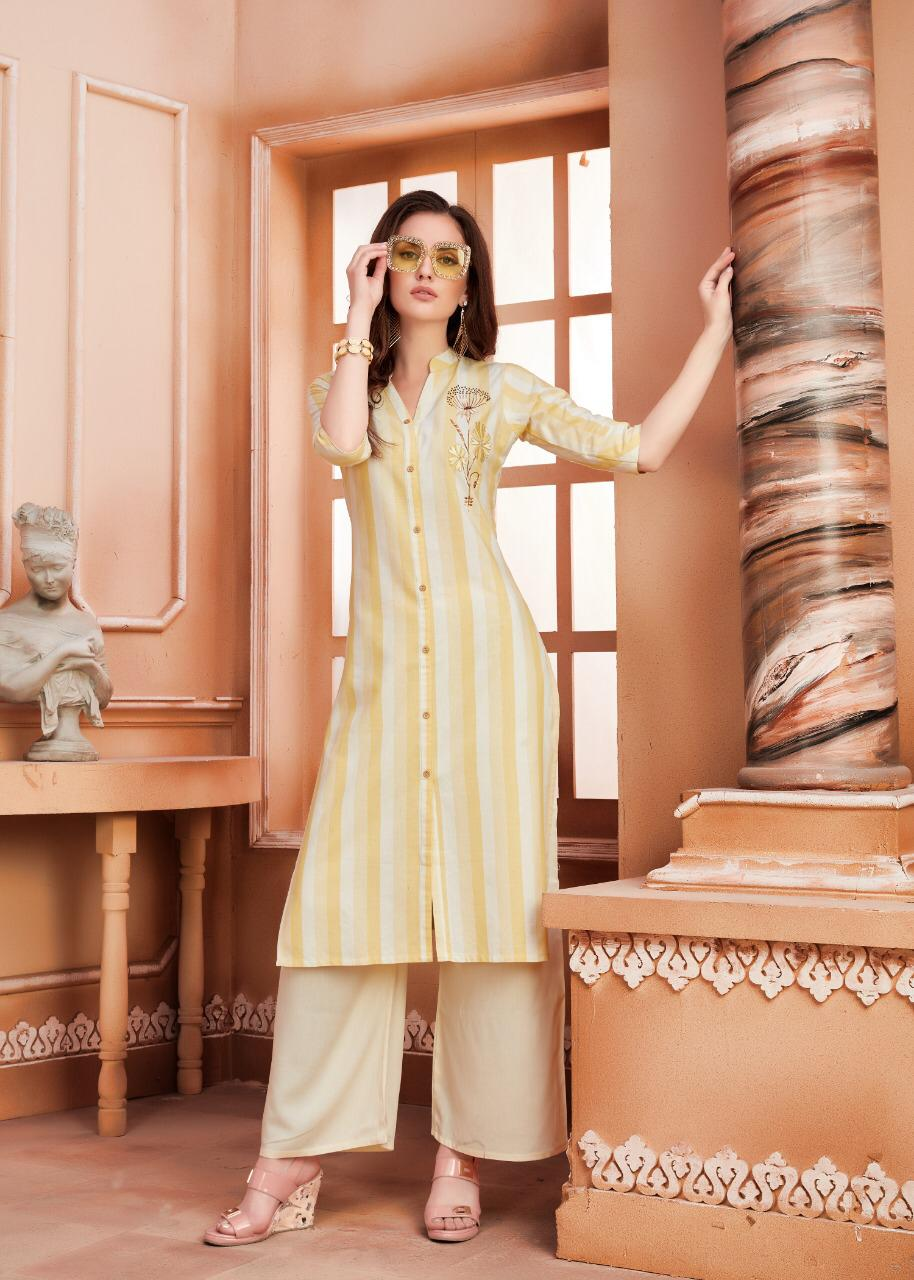 Ayush Indiana Designer Kurti With Plazzo Collection collection 2