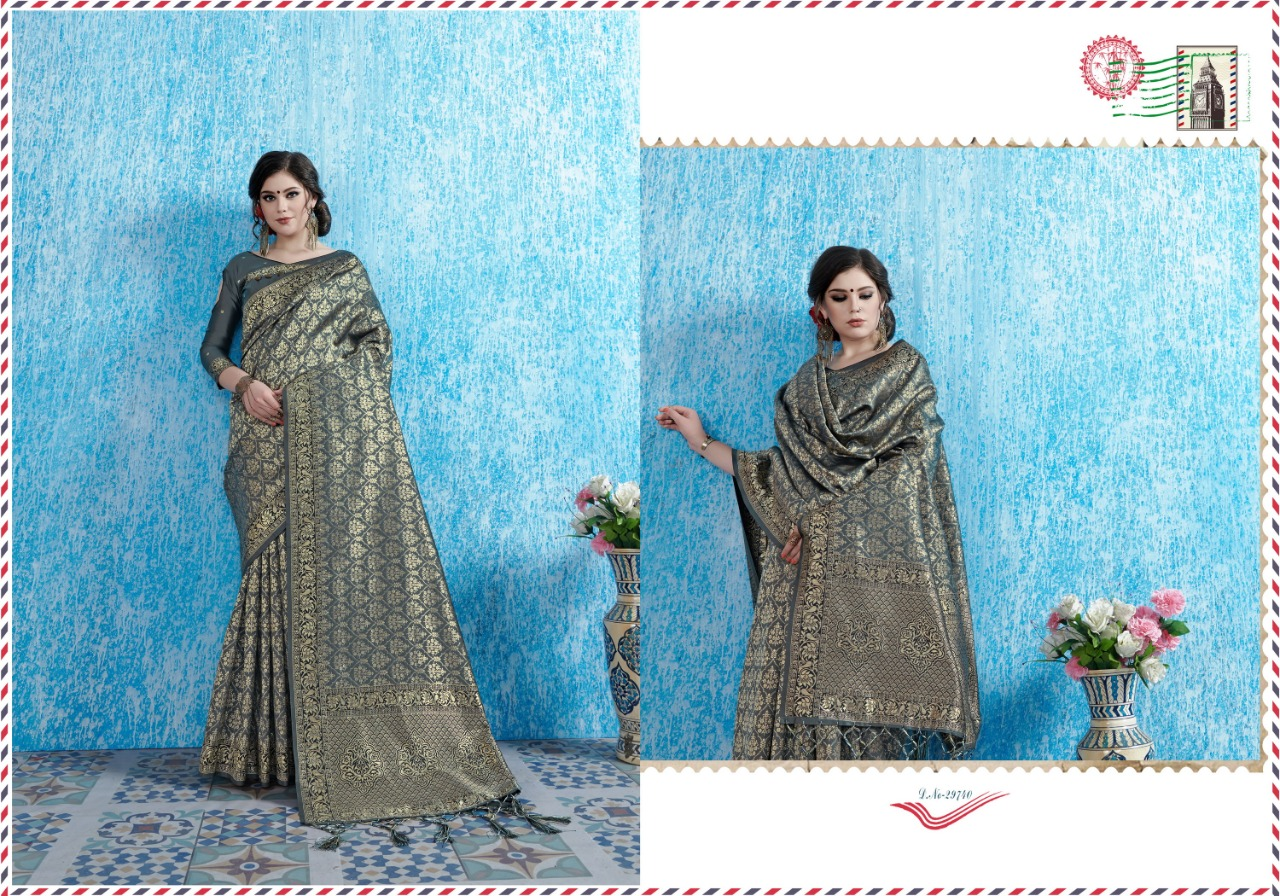 Ynf Viradil Silk Tanchui Silk Festive Wear Saree Collection collection 1