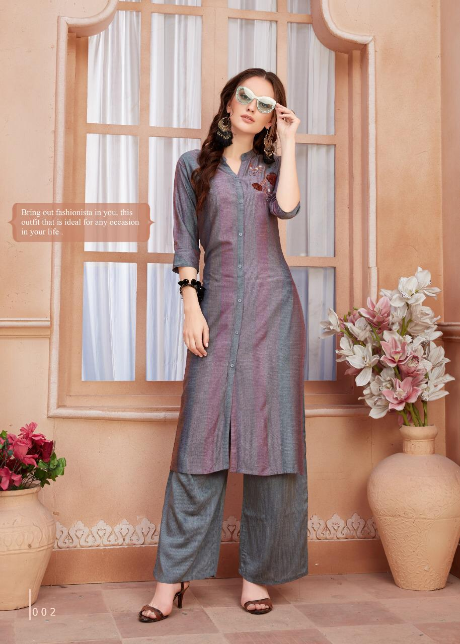 Ayush Indiana Designer Kurti With Plazzo Collection collection 5