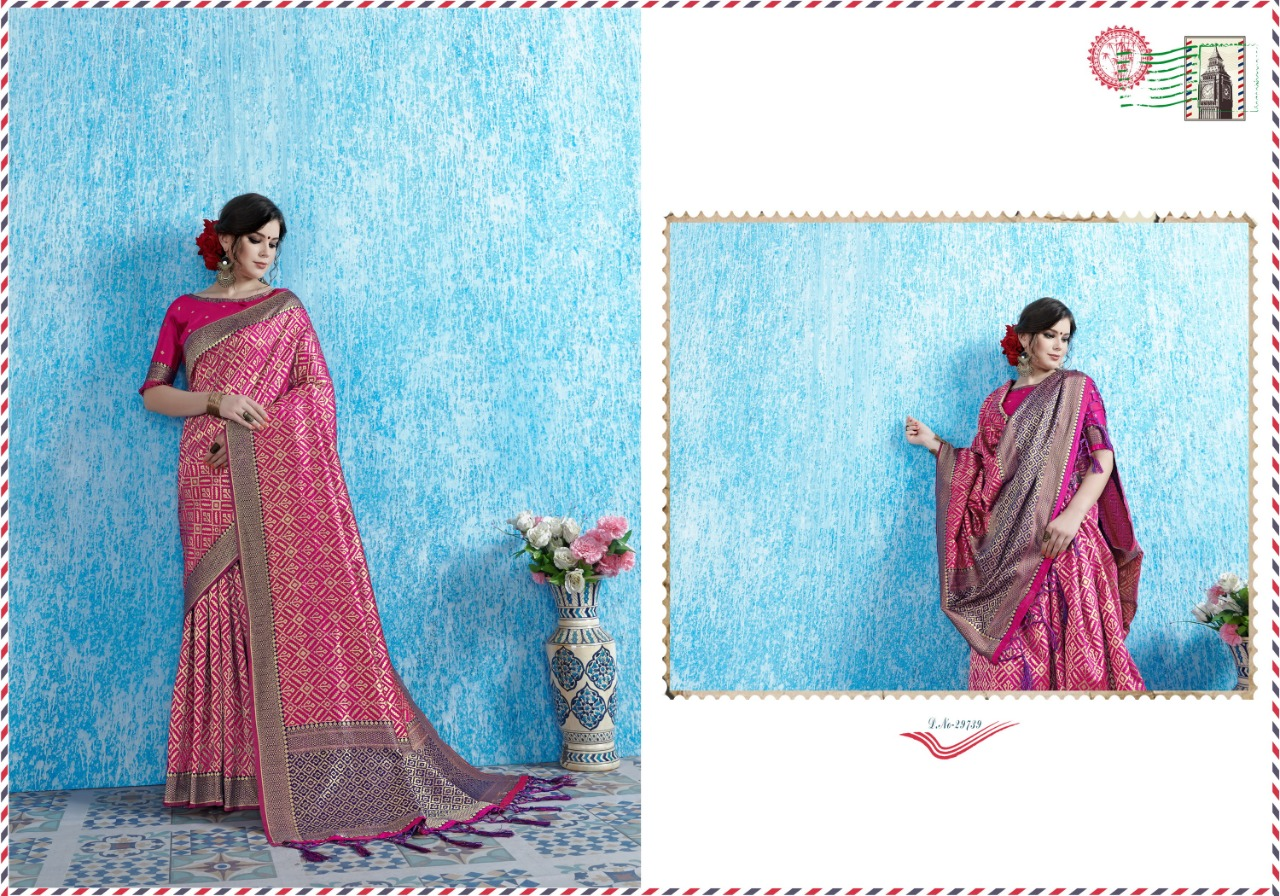 Ynf Viradil Silk Tanchui Silk Festive Wear Saree Collection collection 5