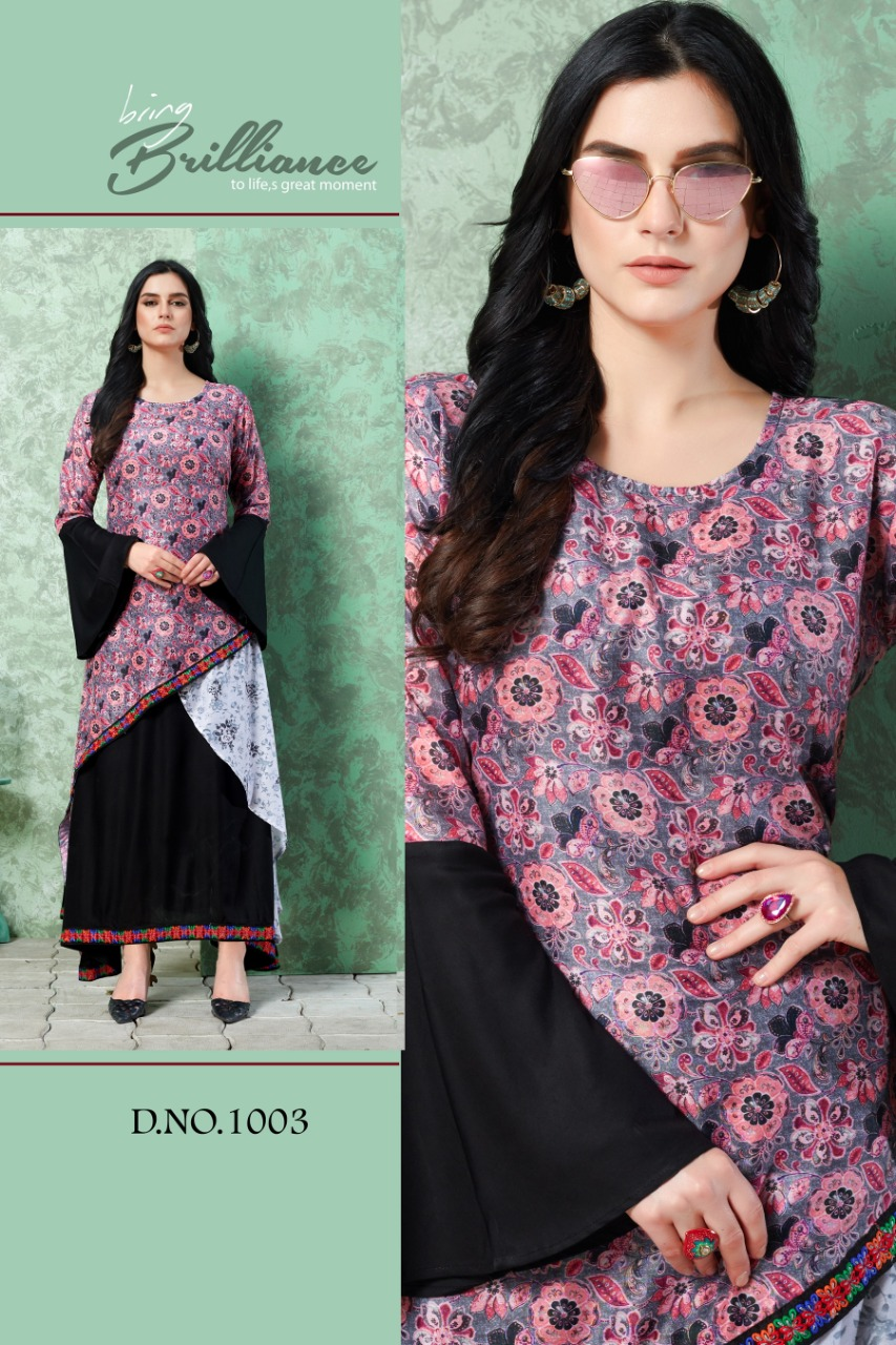 Vee Fab Elissa Vol 1 Rayon Designer Kurti Collection collection 2