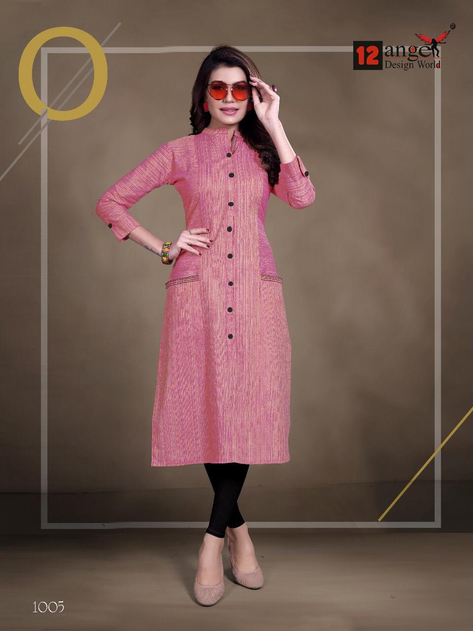 12 Angel Rung Pure Cotton Designer Kurti Collection collection 3