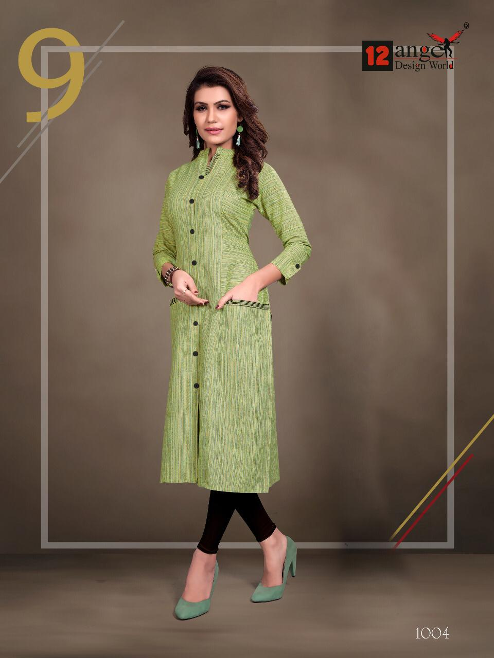 12 Angel Rung Pure Cotton Designer Kurti Collection collection 4