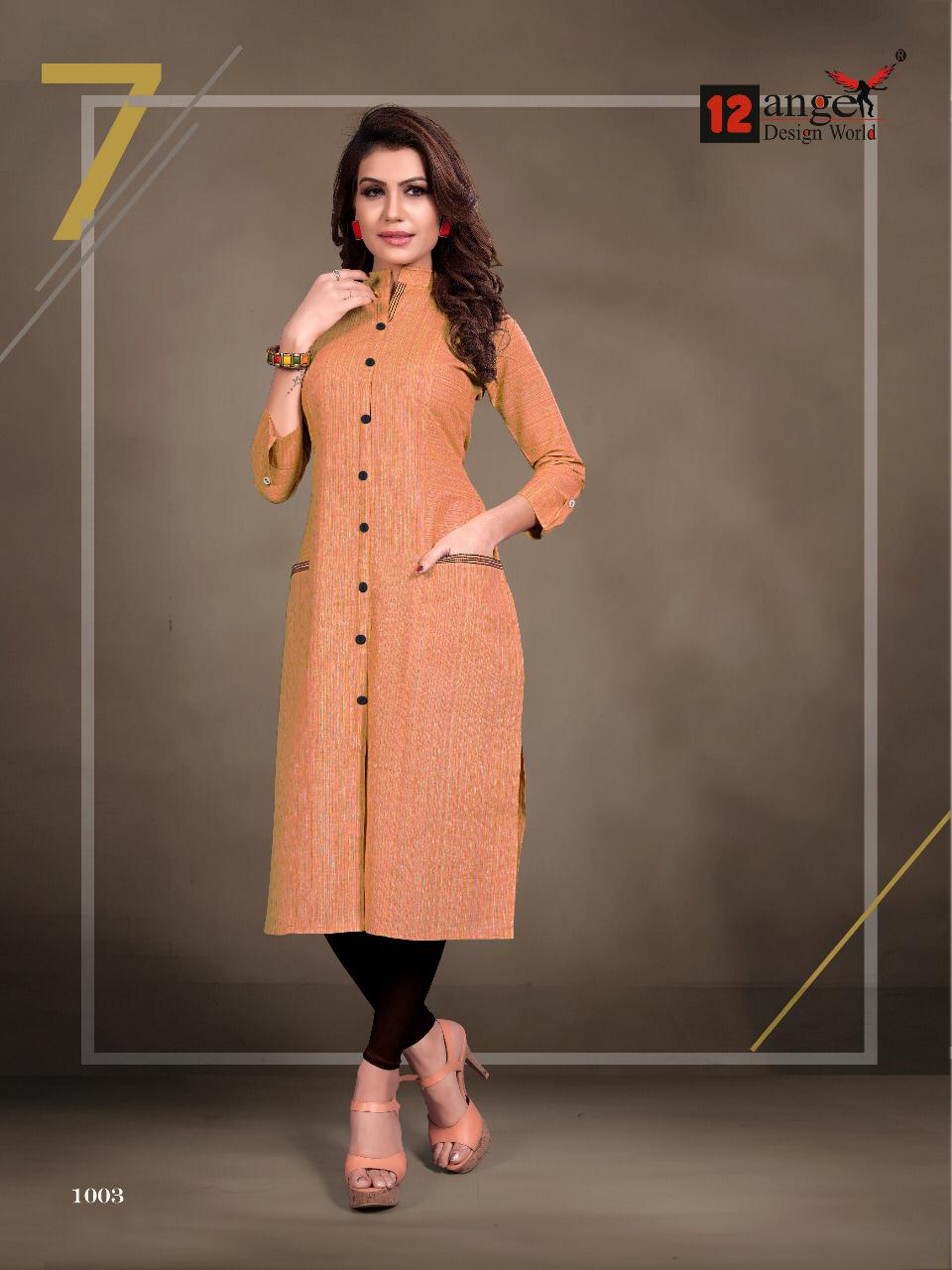 12 Angel Rung Pure Cotton Designer Kurti Collection collection 7