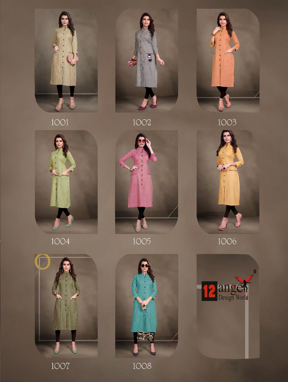 12 Angel Rung Pure Cotton Designer Kurti Collection collection 5
