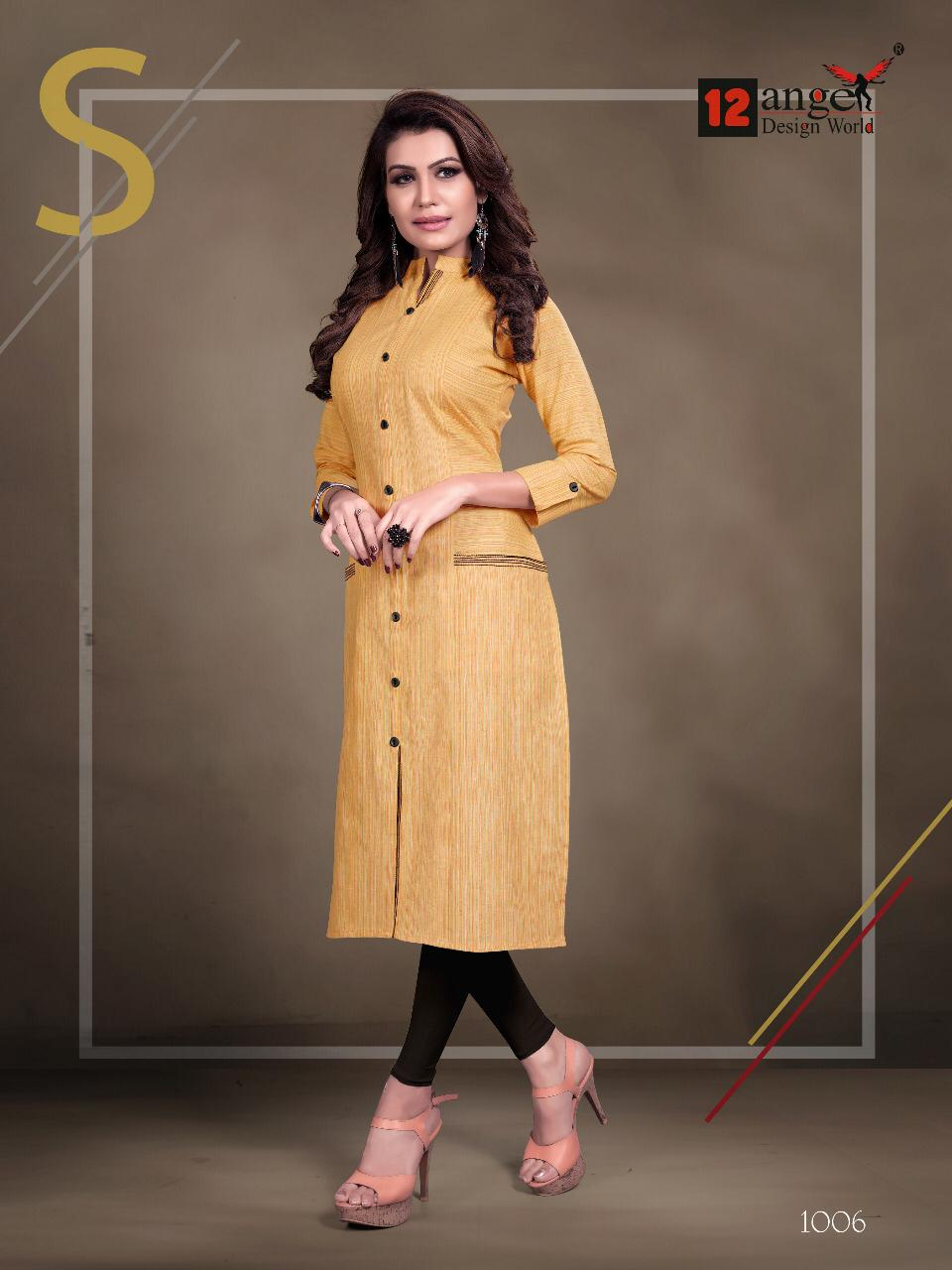 12 Angel Rung Pure Cotton Designer Kurti Collection collection 6