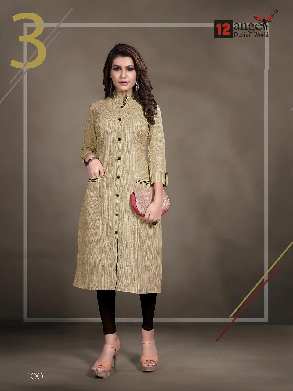 12 Angel Rung Pure Cotton Designer Kurti Collection collection 1