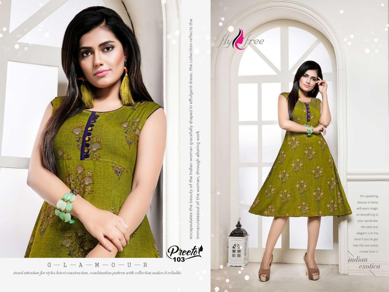 Fly Free Preeto Maslin Silk New Designer Kurti Collection collection 4