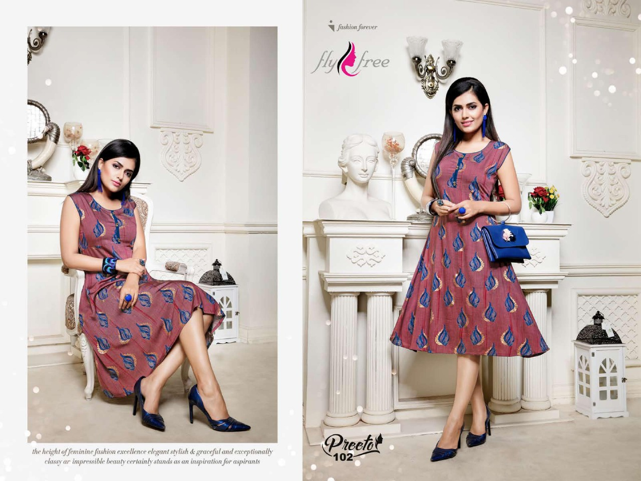 Fly Free Preeto Maslin Silk New Designer Kurti Collection collection 5