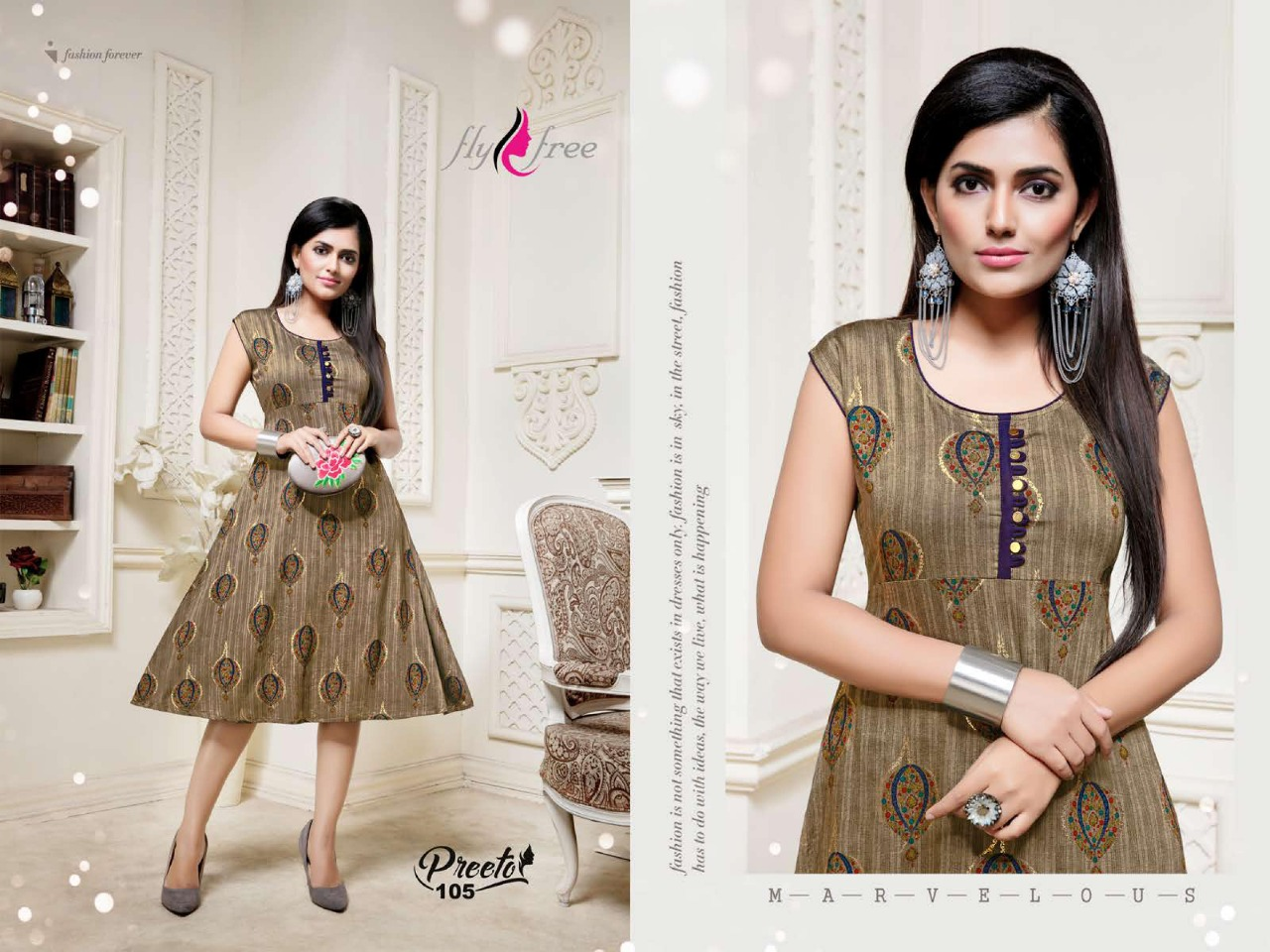 Fly Free Preeto Maslin Silk New Designer Kurti Collection collection 2