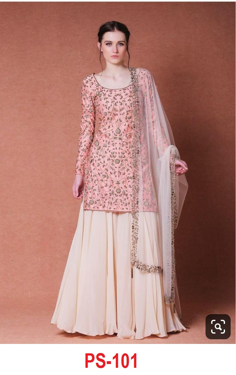 New Designs Heavy Satin Silk Top With Sarara Collection collection 1