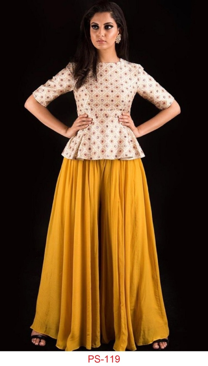 Ps 119 New Designer Top With Sarara Crape Collection collection 1
