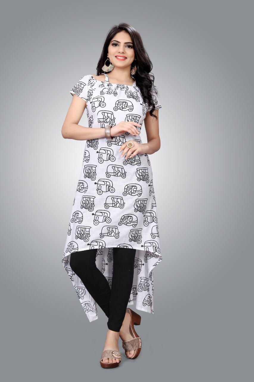 Slub Kurti 01 With Stylish Designer Cotton Kurtis Collection collection 1