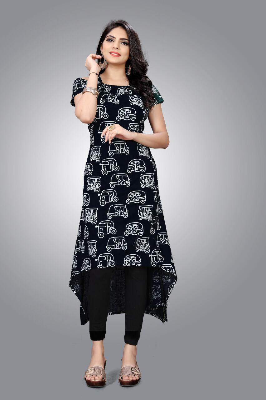 Slub Kurti 01 With Stylish Designer Cotton Kurtis Collection collection 5