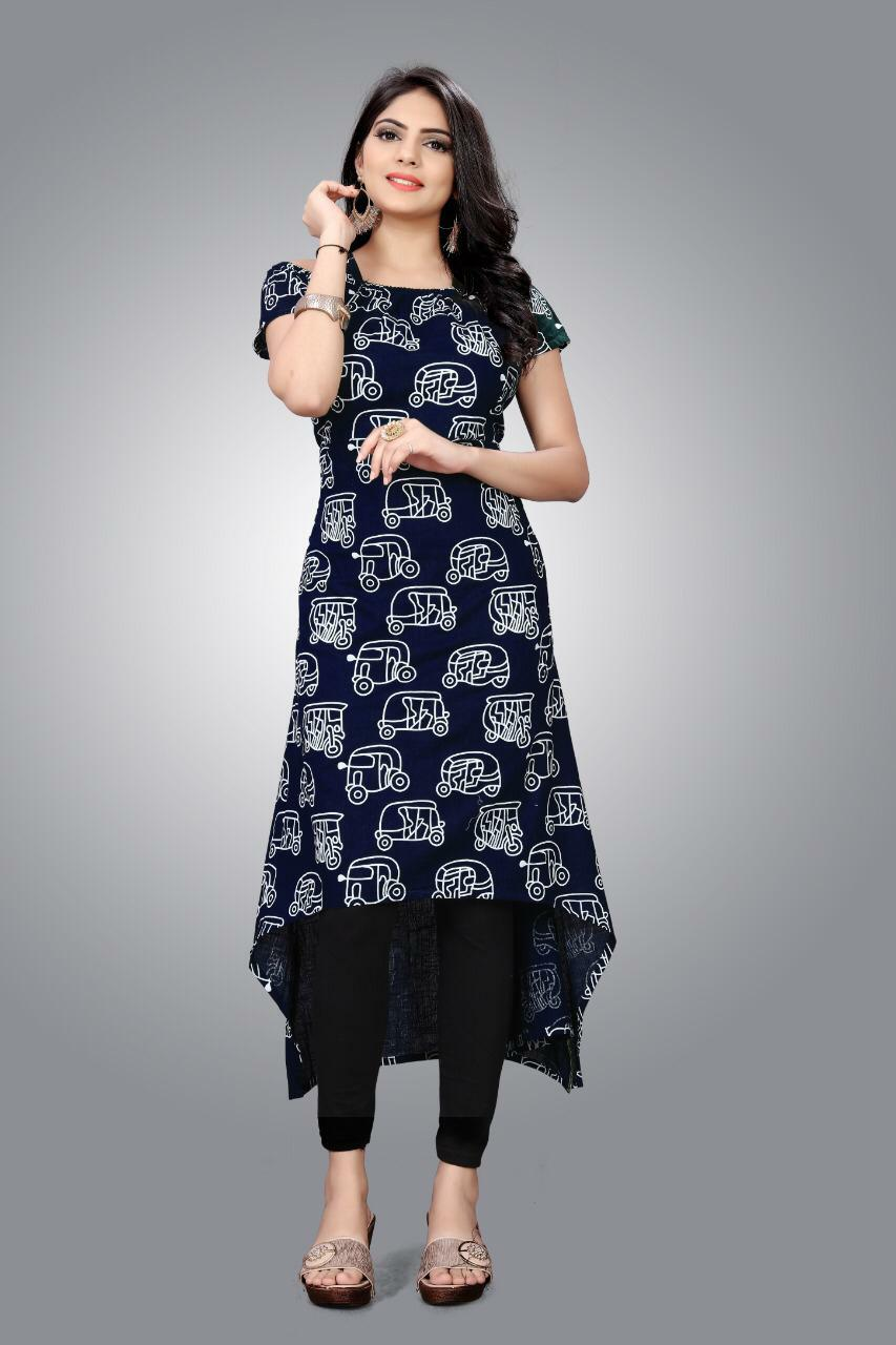 Slub Kurti 01 With Stylish Designer Cotton Kurtis Collection collection 4