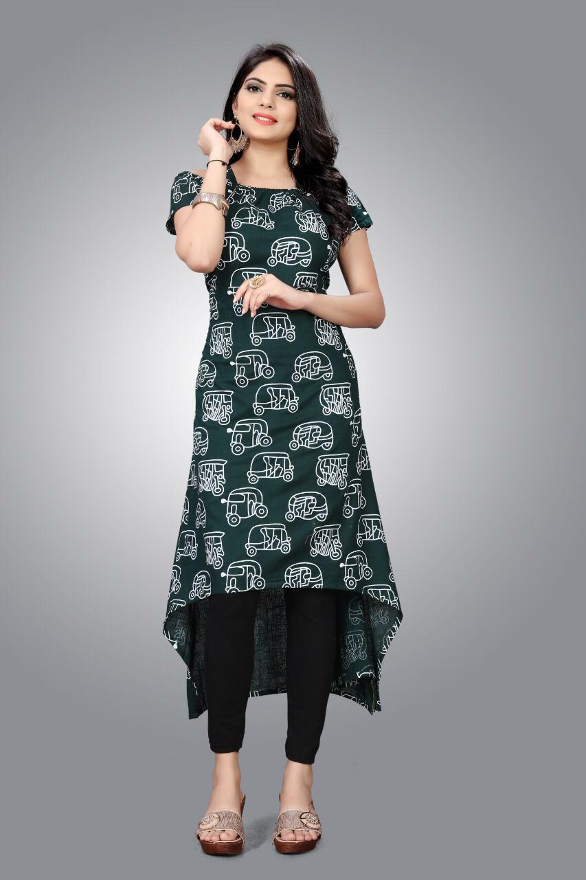 Slub Kurti 01 With Stylish Designer Cotton Kurtis Collection collection 2