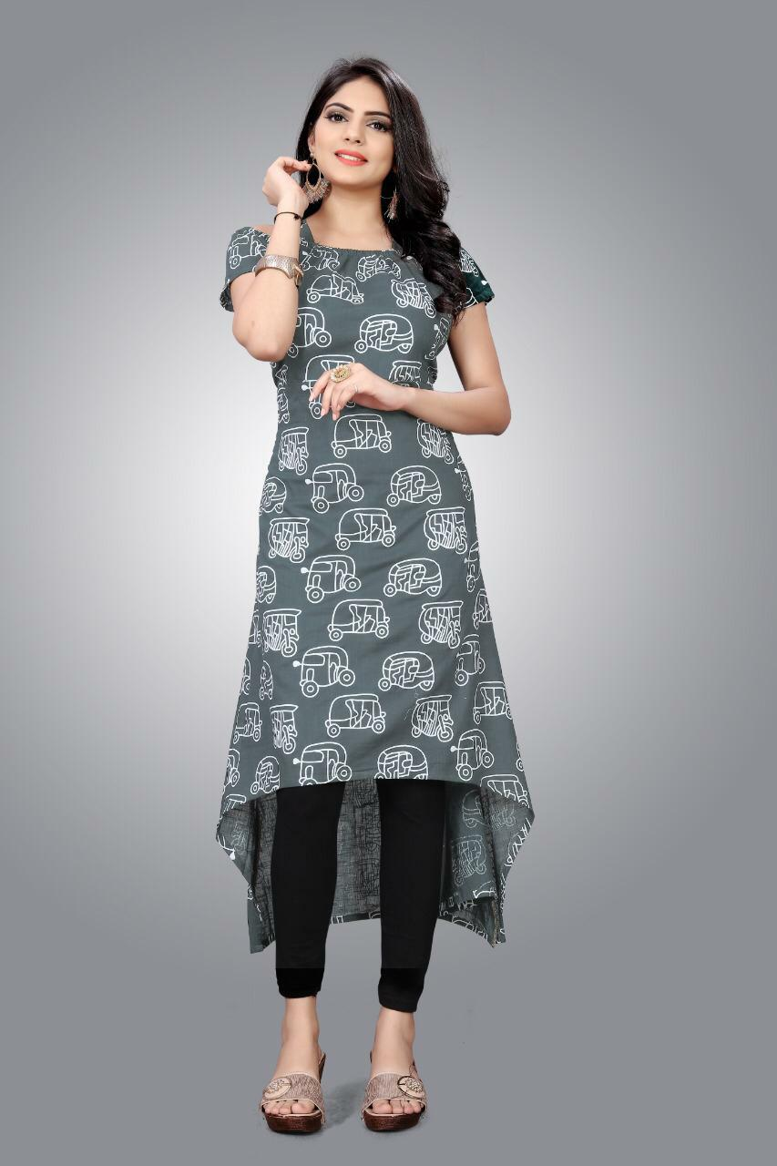 Slub Kurti 01 With Stylish Designer Cotton Kurtis Collection collection 3
