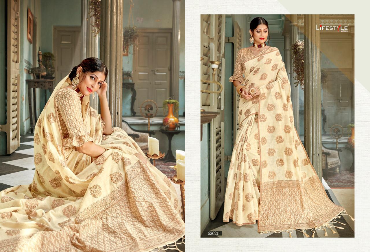 New Designer Saree With Crystal Cotton Silk Saree Collection collection 4