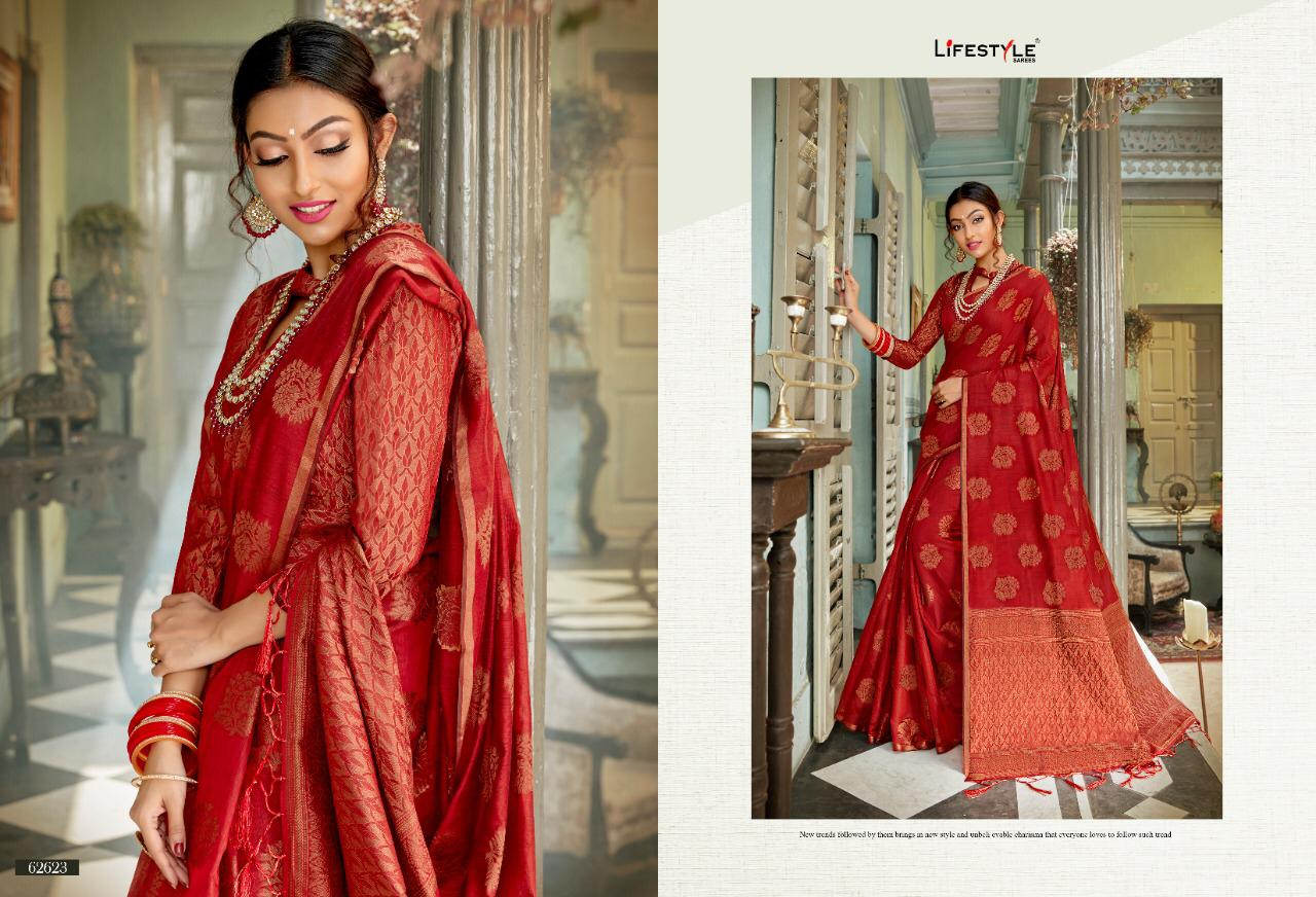 New Designer Saree With Crystal Cotton Silk Saree Collection collection 5