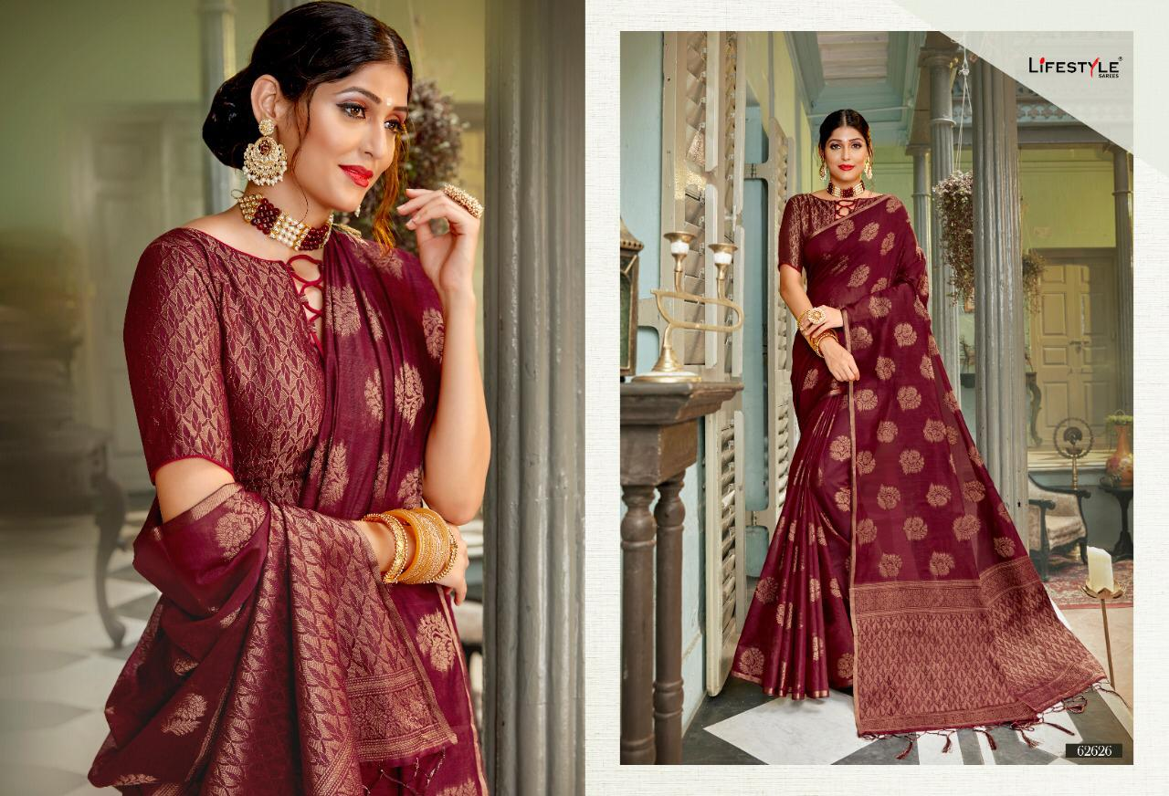 New Designer Saree With Crystal Cotton Silk Saree Collection collection 6
