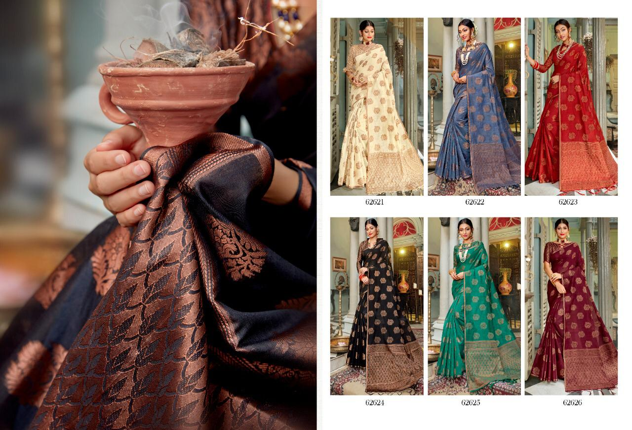 New Designer Saree With Crystal Cotton Silk Saree Collection collection 1