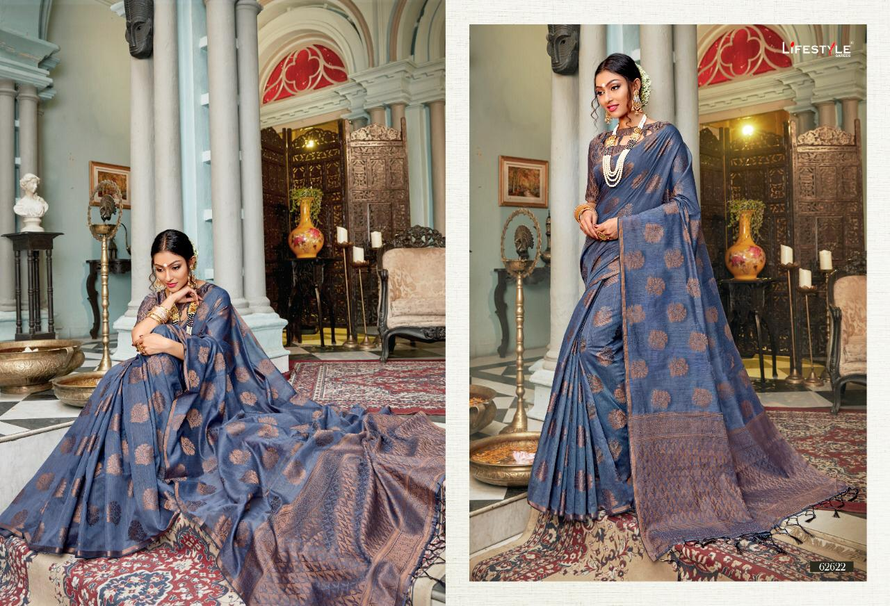 New Designer Saree With Crystal Cotton Silk Saree Collection collection 2