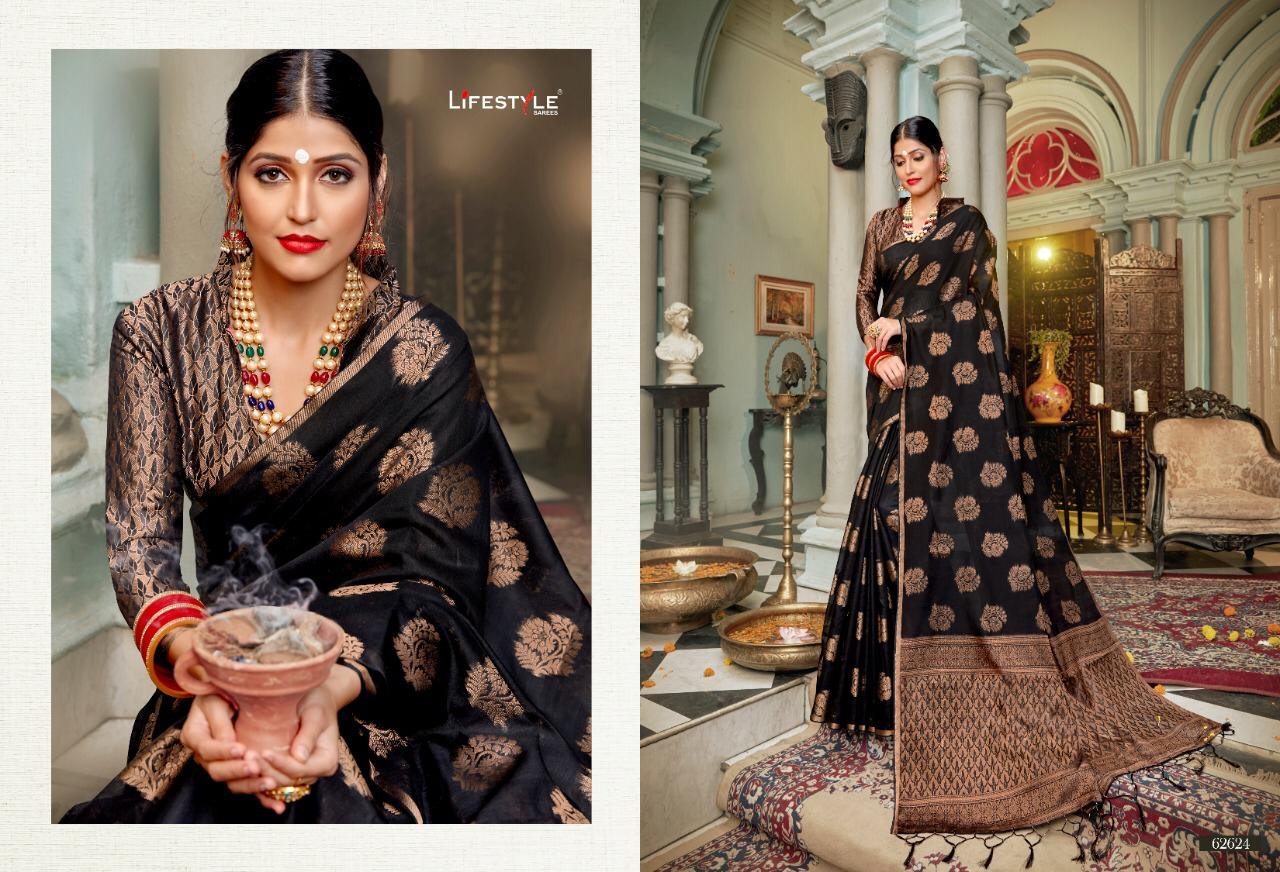 New Designer Saree With Crystal Cotton Silk Saree Collection collection 7
