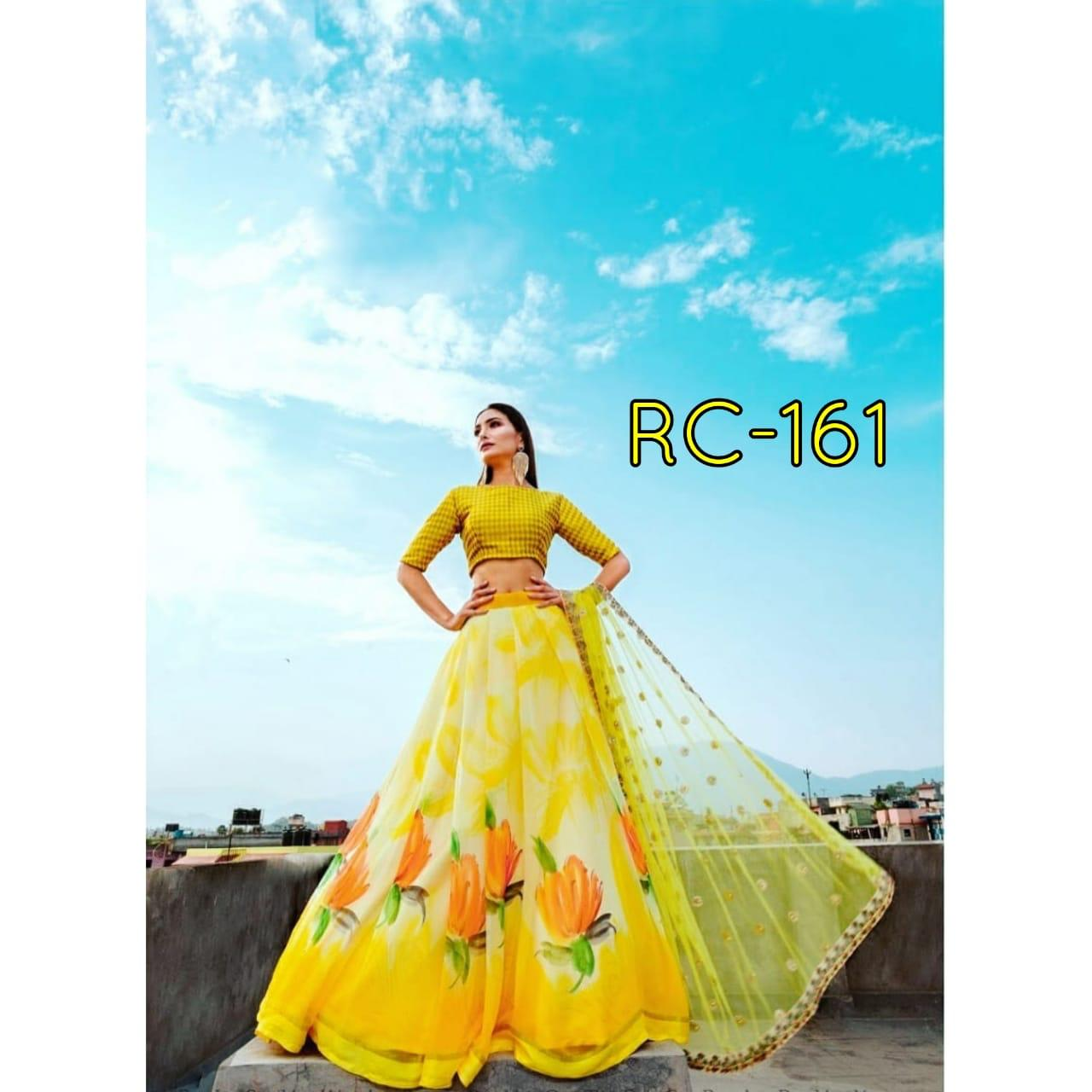 Rc 161 Georgette Silk With Designer Lehenga Collection collection 1
