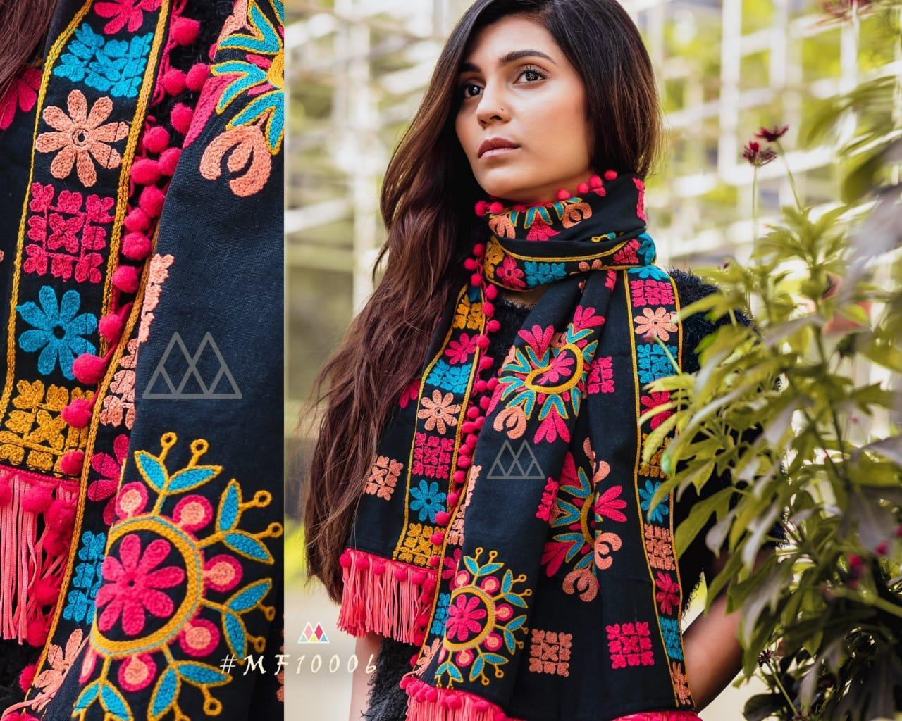 New Designer With Khadi Embroidered Stole Collection collection 2
