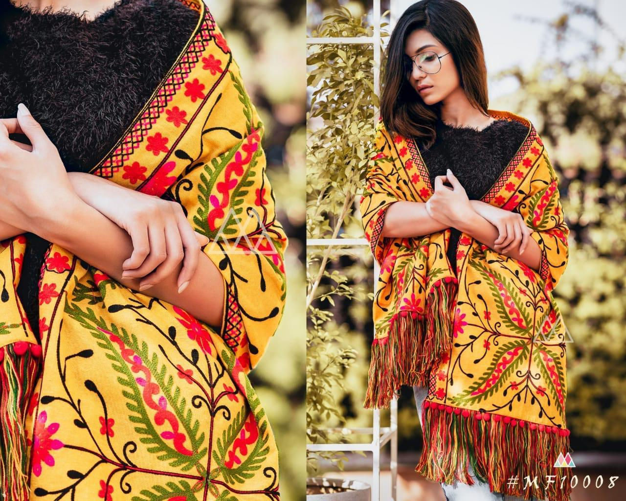 New Designer With Khadi Embroidered Stole Collection collection 4