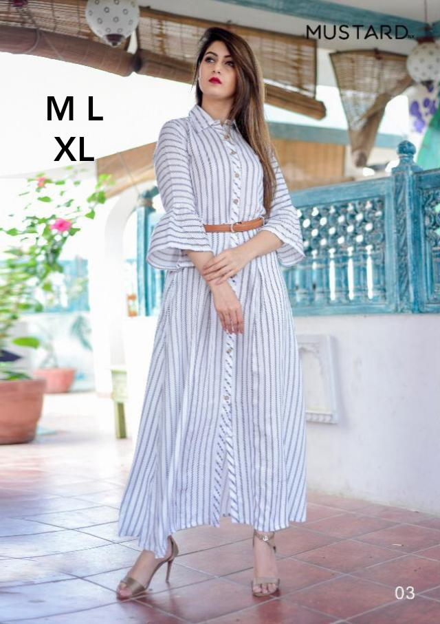New Designer Long Kurtis With American Crepe Collection collection 6