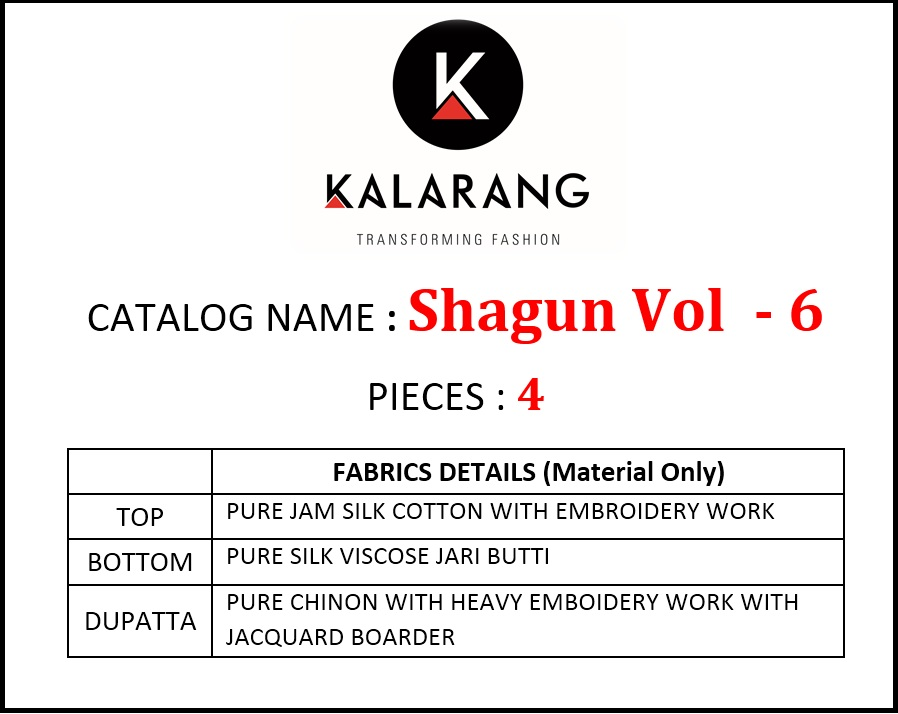 Kalarang Shagun Vol 6 collection 2