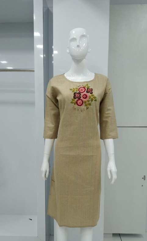 Be 75 With Khadi Cotton Designer Kurti Collection collection 1