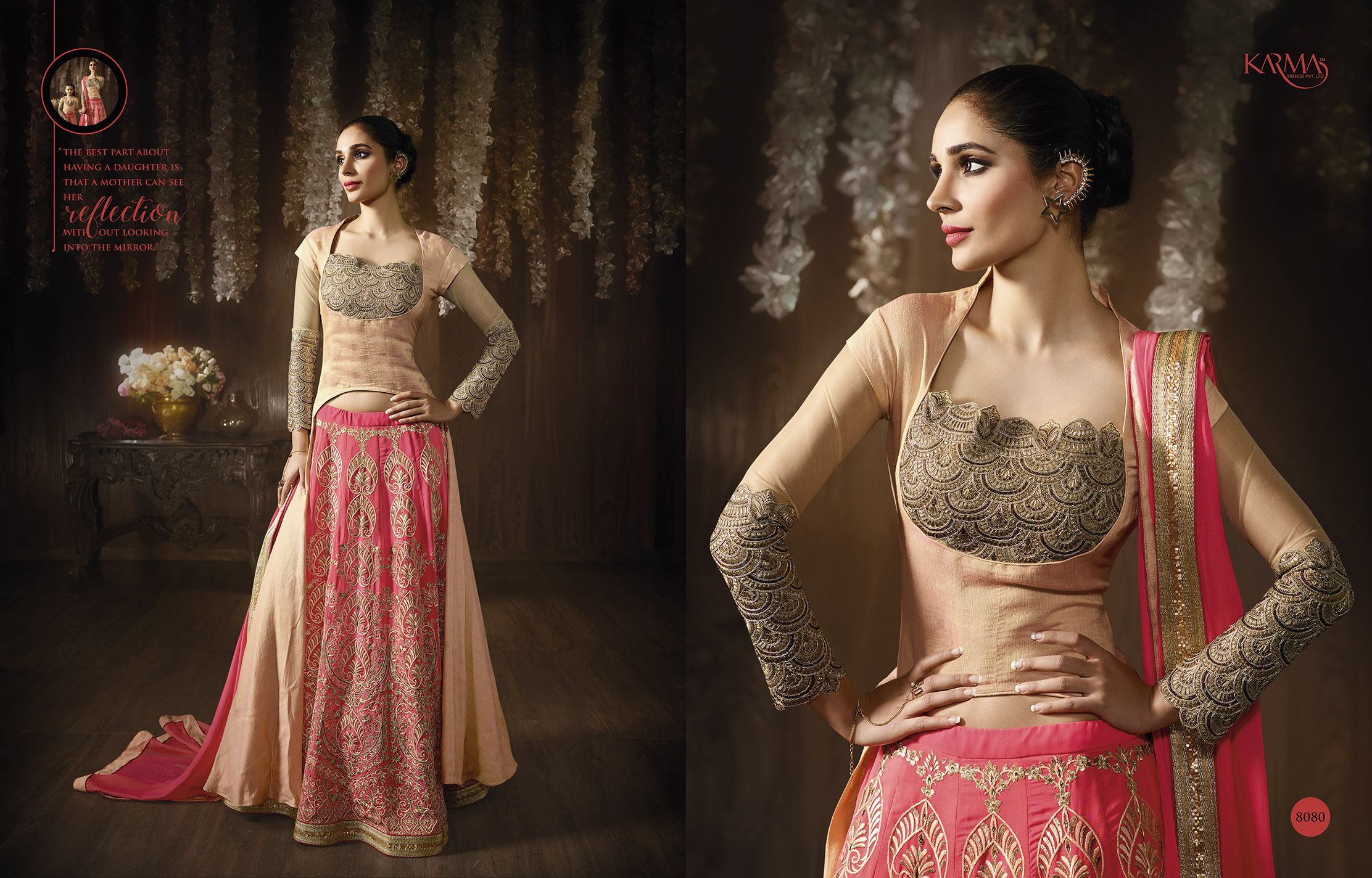 Designer Exclusive Pink And Peach collection 1