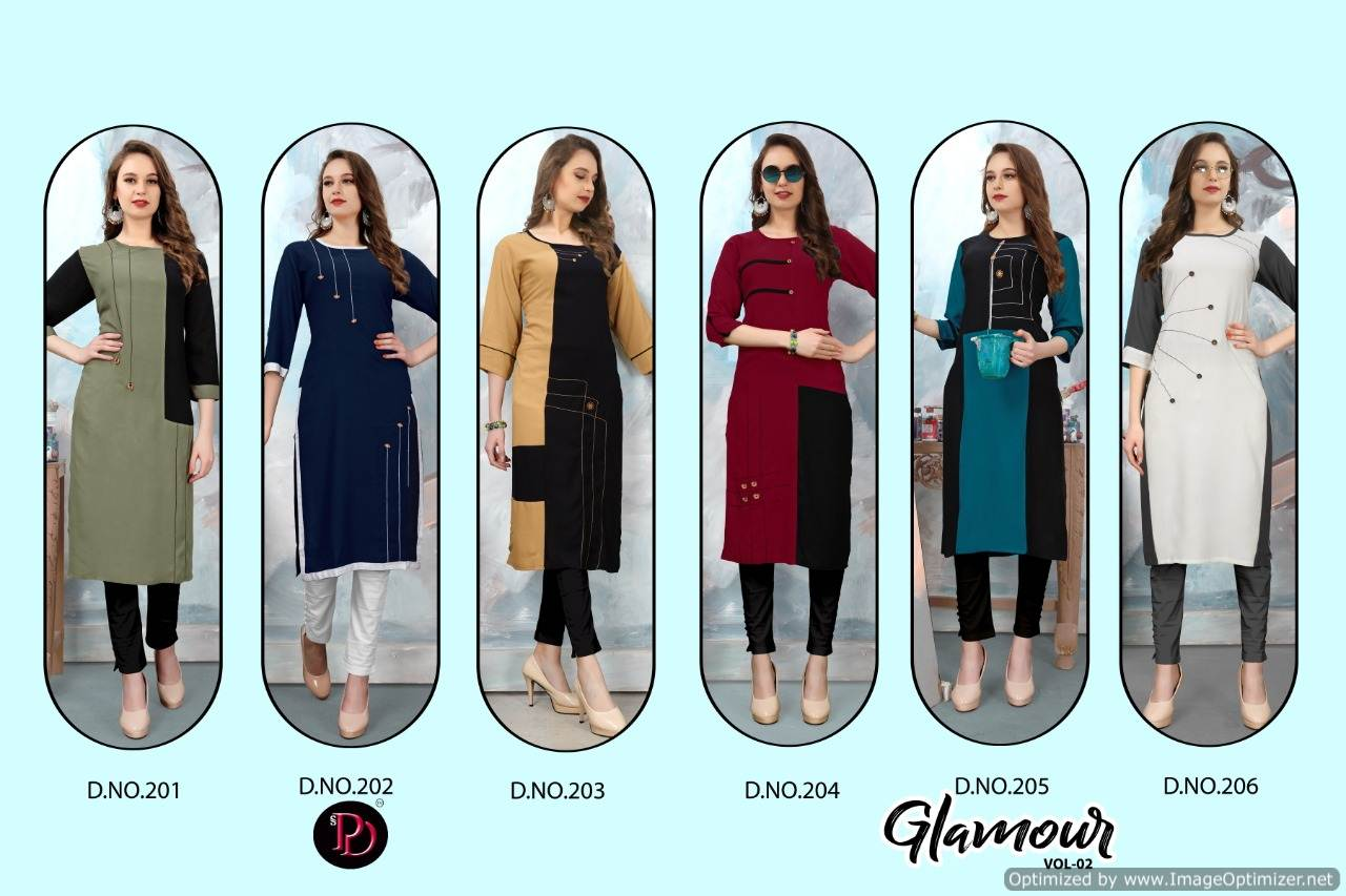 Poorvi Glamour 2 Heavy Rayon Casual Wear Kurti Collection collection 2