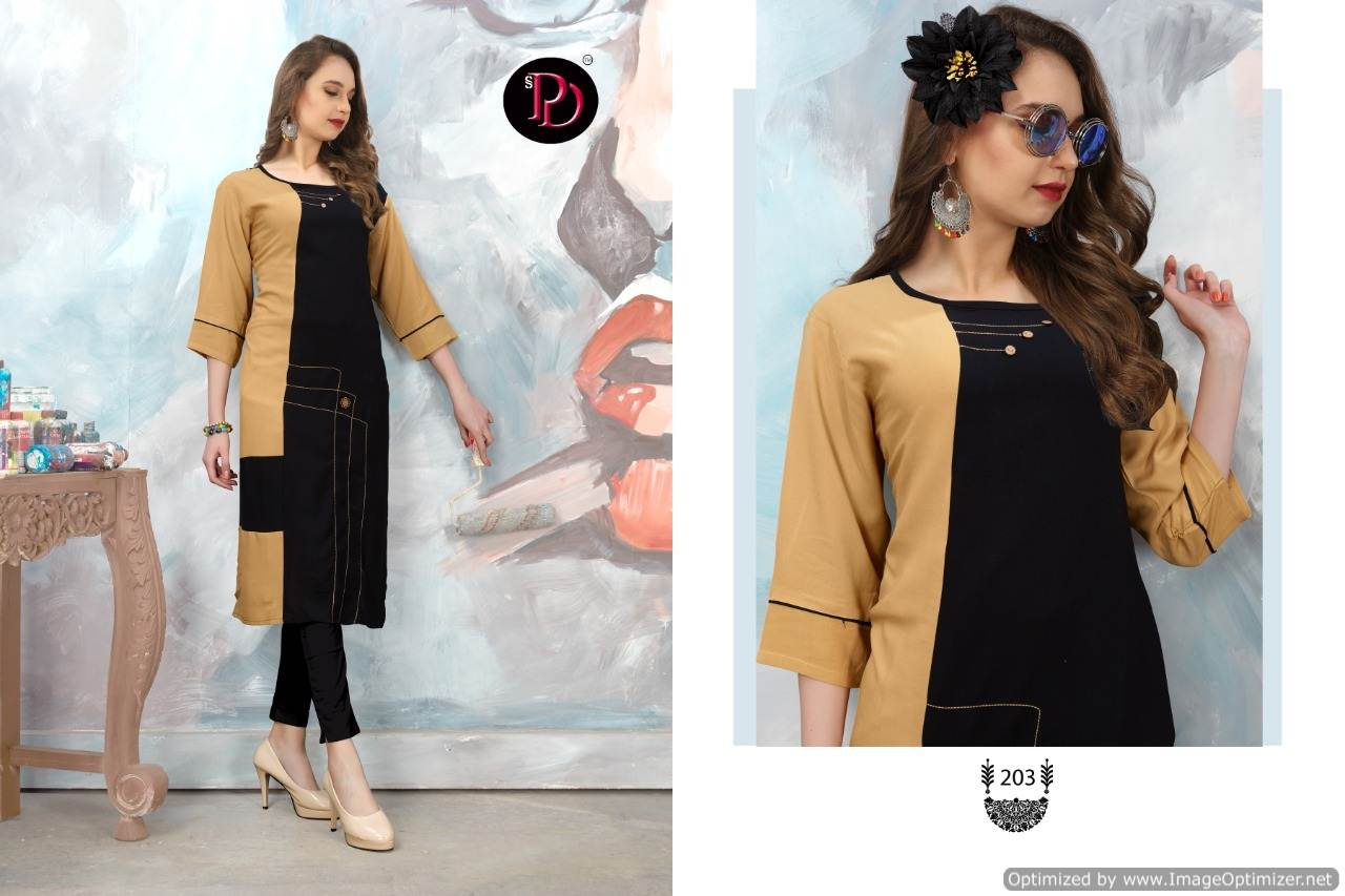 Poorvi Glamour 2 Heavy Rayon Casual Wear Kurti Collection collection 4
