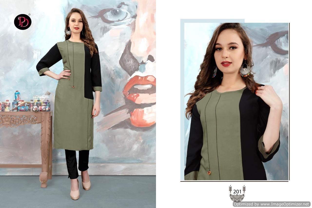 Poorvi Glamour 2 Heavy Rayon Casual Wear Kurti Collection collection 7
