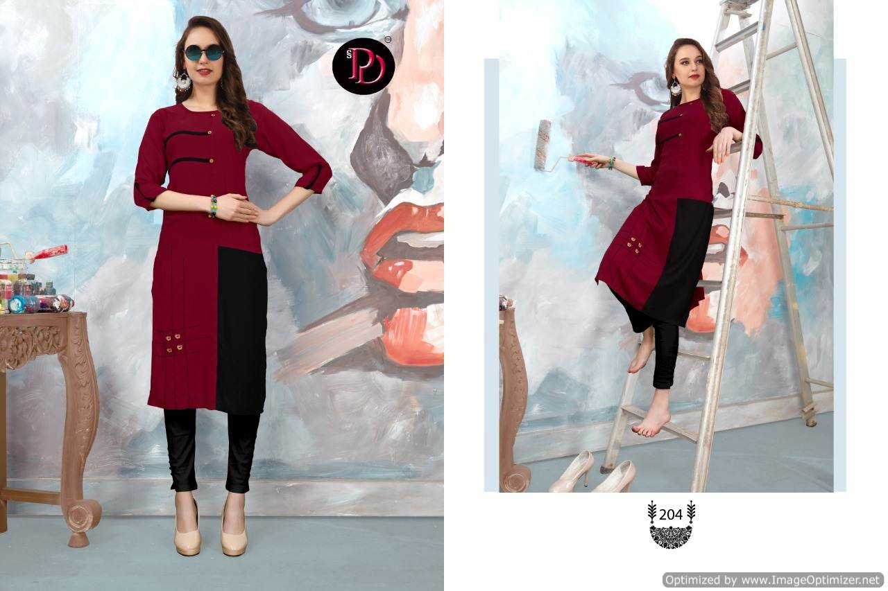 Poorvi Glamour 2 Heavy Rayon Casual Wear Kurti Collection collection 5