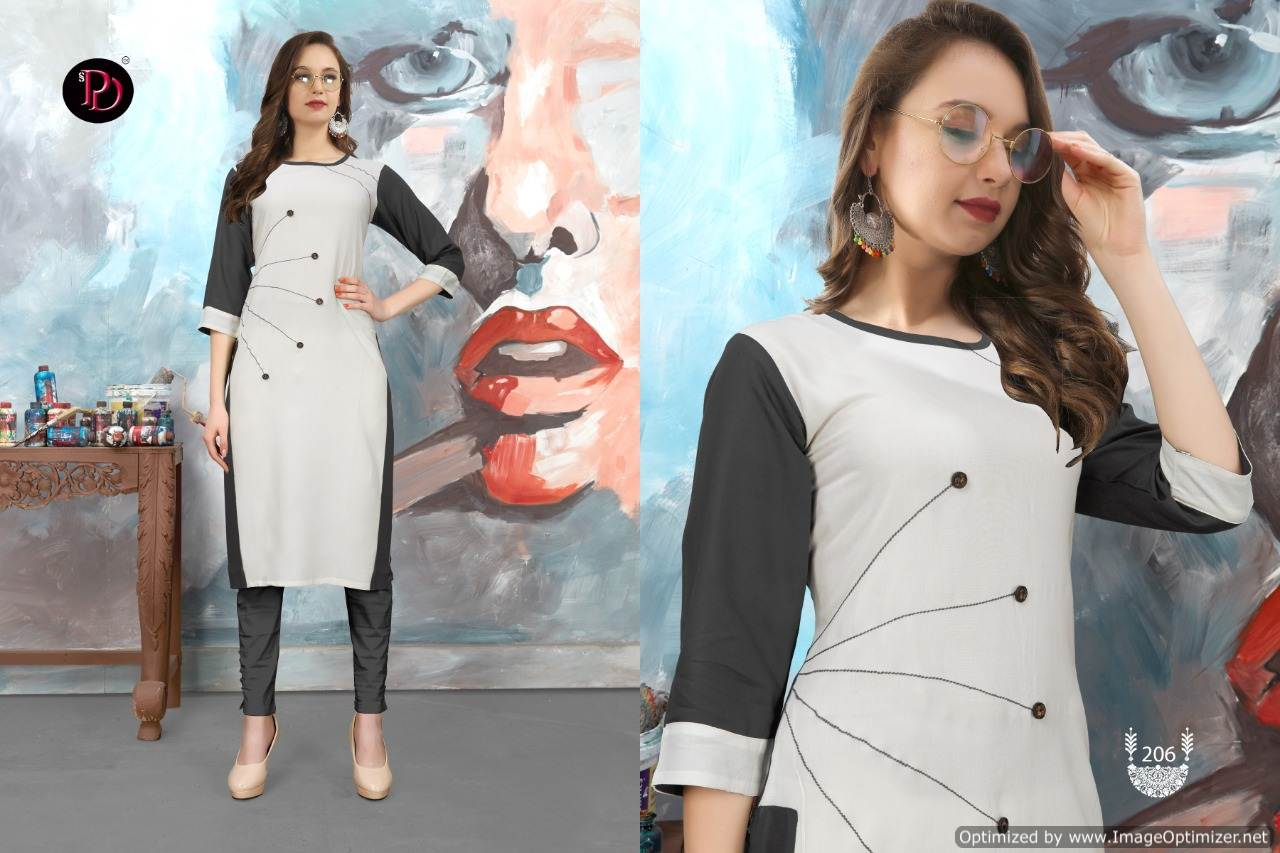Poorvi Glamour 2 Heavy Rayon Casual Wear Kurti Collection collection 1