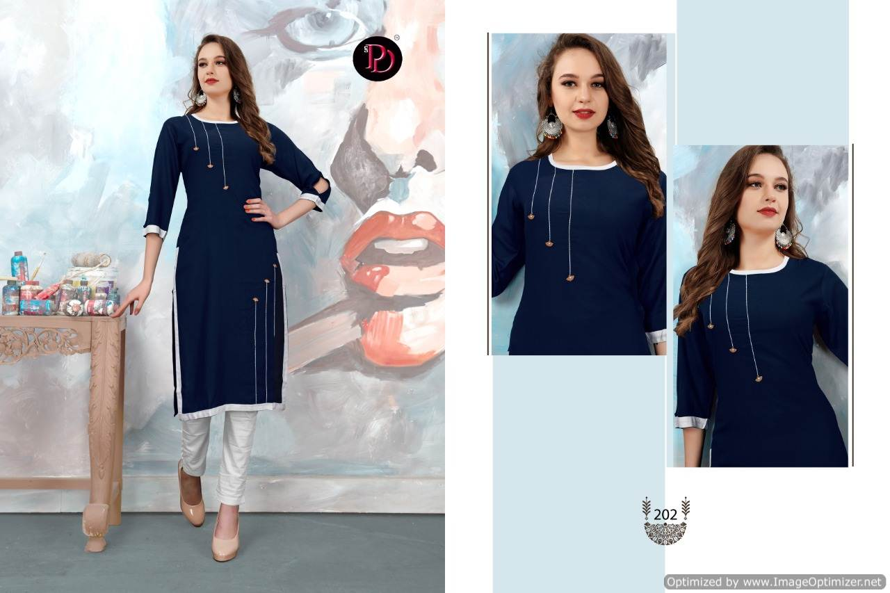 Poorvi Glamour 2 Heavy Rayon Casual Wear Kurti Collection collection 6