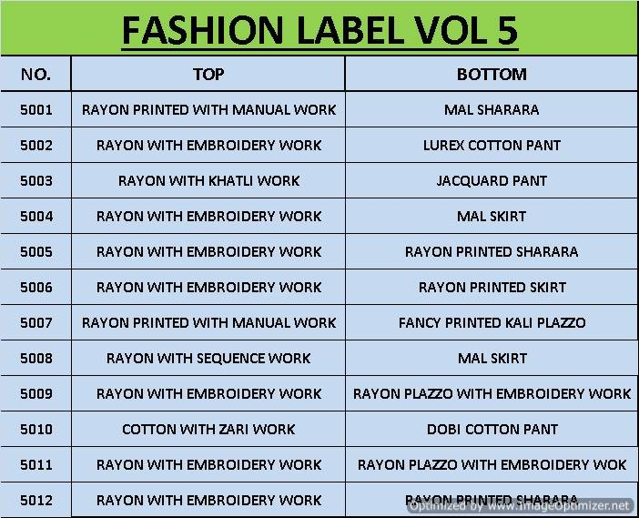 Fashion Label 5 collection 8