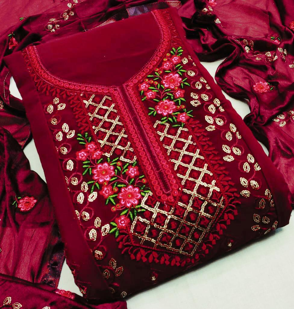 Georgette Maroon collection 1