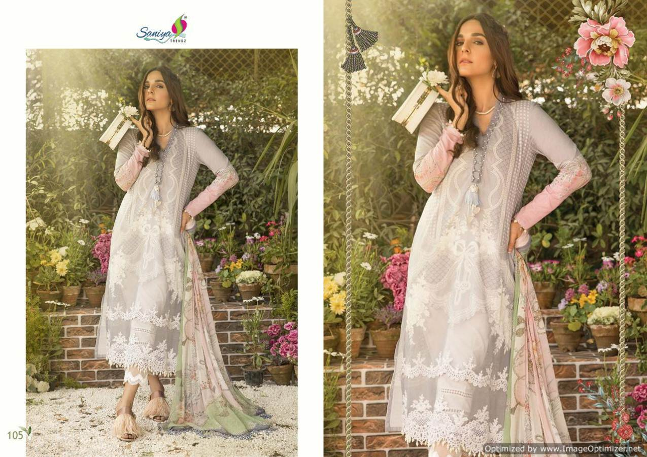 Saniya Maria B Lawn Mprint collection 8