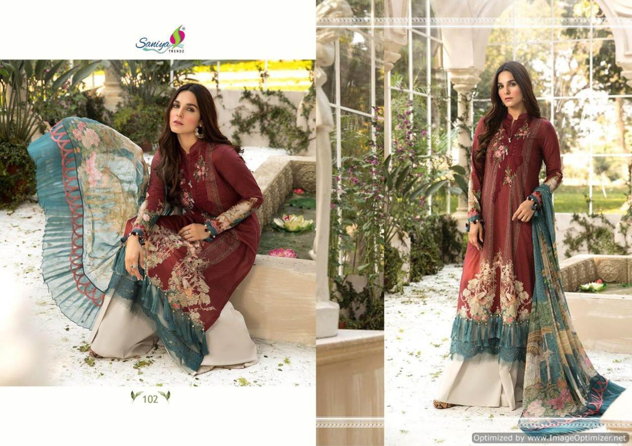 Saniya Maria B Lawn Mprint collection 1