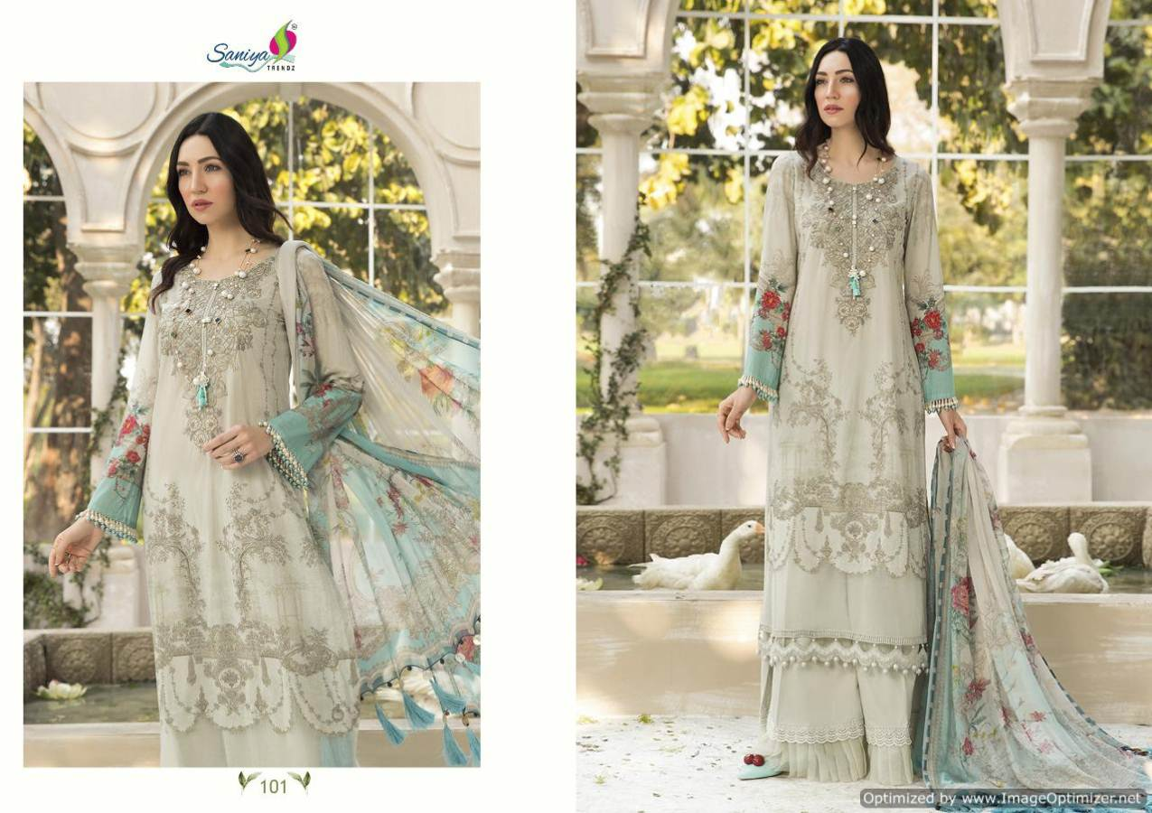 Saniya Maria B Lawn Mprint collection 4