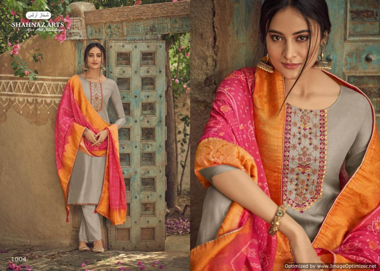 Shahnaz Diyah Heavy Tussar Silk Designer Dress Material collection 1