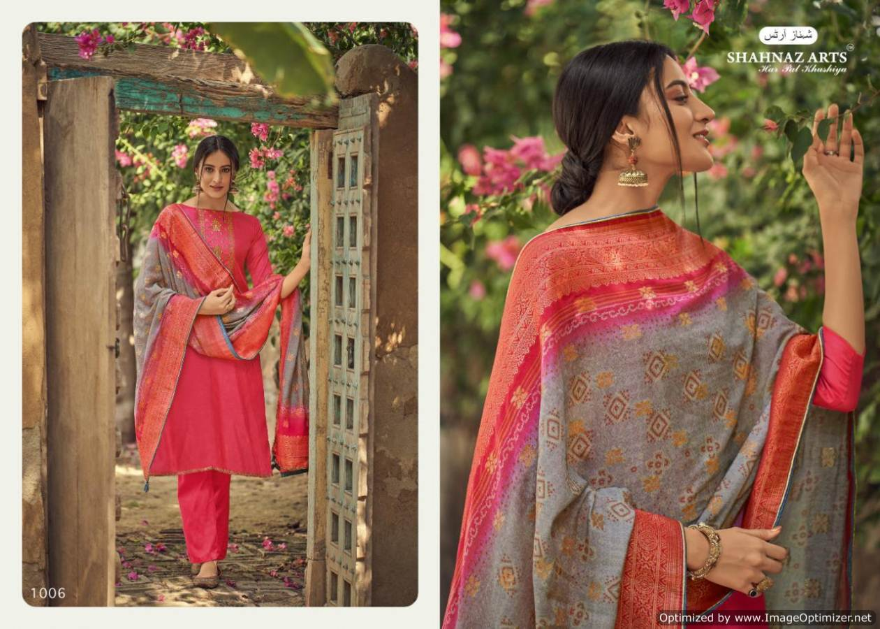 Shahnaz Diyah Heavy Tussar Silk Designer Dress Material collection 4