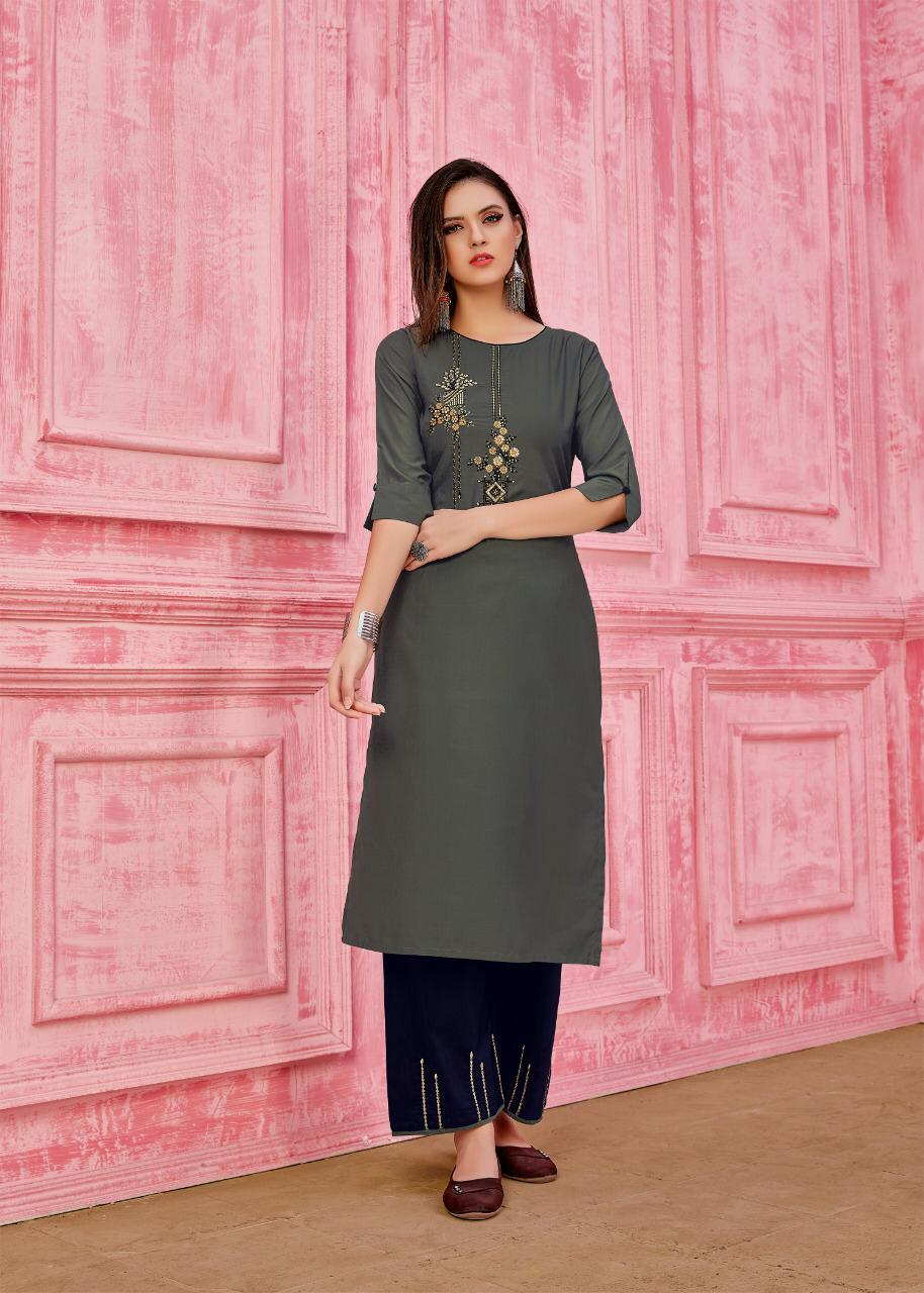 Seven Threads Rung Prime Silk Designer Kurti With Pant collection 2