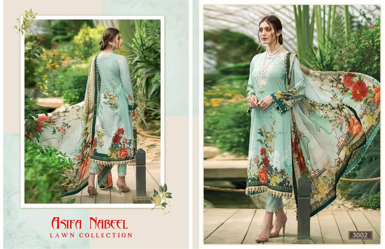 Asifa Nabeel Lawn Collection 3 collection 2