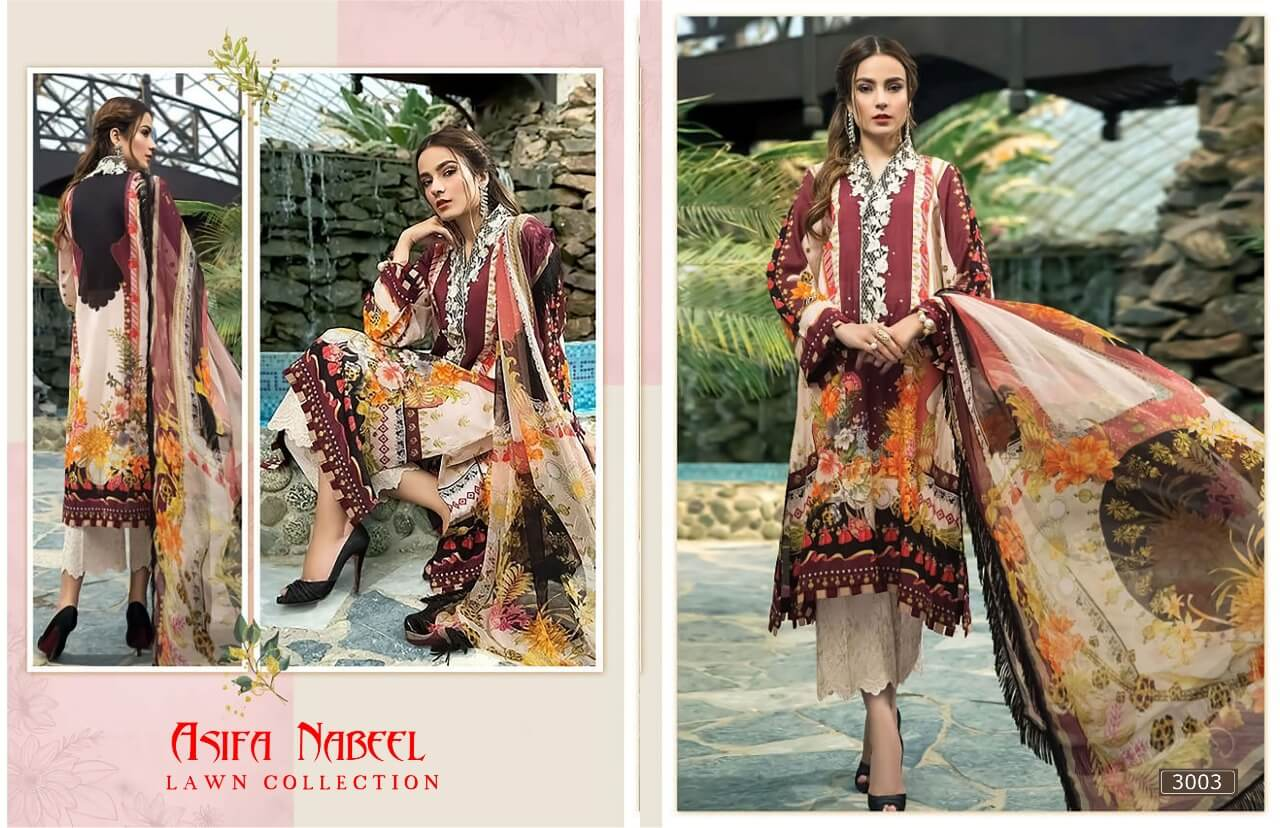 Asifa Nabeel Lawn Collection 3 collection 3